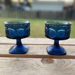 Vintage Noritake Blue Sherbet/Dessert Goblets